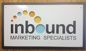 Inbound Marketing Specialists a layered business sign by Alabama Metal Art