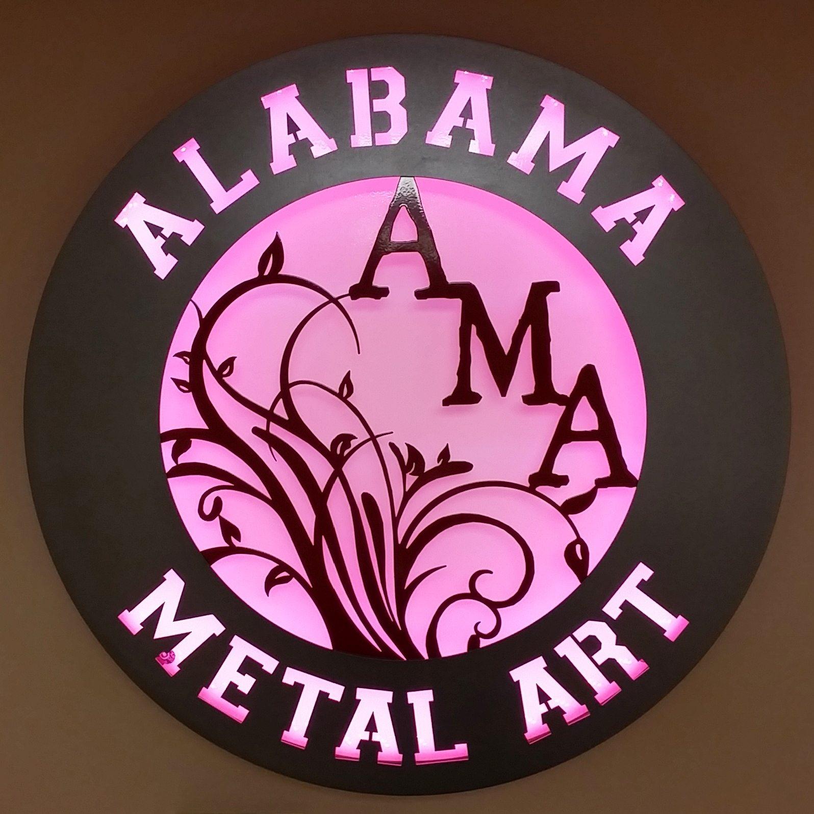 Alabama-Metal-Art-custom-backlit-sign   Alabama Metal Art