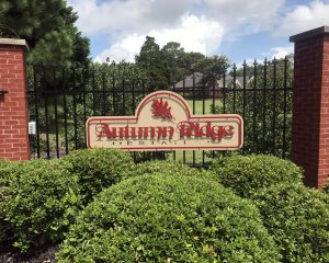 Autumn Ridge Estates - Layered Business Sign