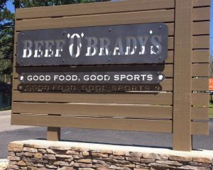 Outside Business Sign for Beef O'Brady's