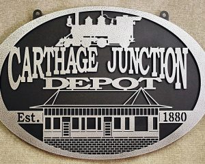 Metal Train Depot Sign, Layer Metal Sign