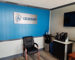 Chemtrade Business Sign Inside Installation
