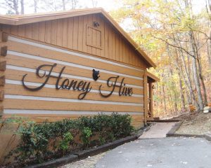 Metal Business Signs, Honey Hive, Metal Name Art, Cabin Rental Signs