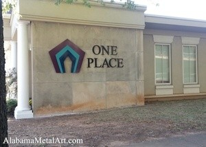 Mulit Layered business sign, Alabama Metal Art, Multi color powder coating