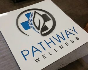 Medical Metal Business sign, Wellness sign, business sign