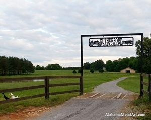 Farm Entry Sign, Custom Farm Sign, Metal Art, Alabama Metal Art