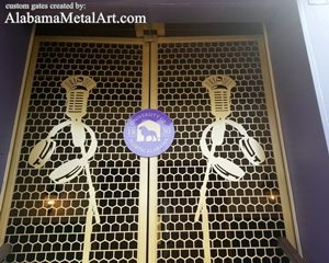 Custom Metal Gates, UNA Gates, Alabama Metal Art