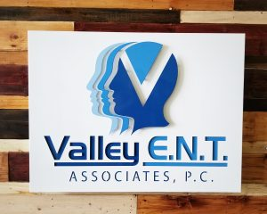 Layered Metal Business Sign for Valley ENT