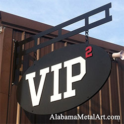 VIP2 Hanging Layered Business Sign by Alabama Metal Art