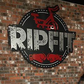 RipFit Layered Metal Sign
