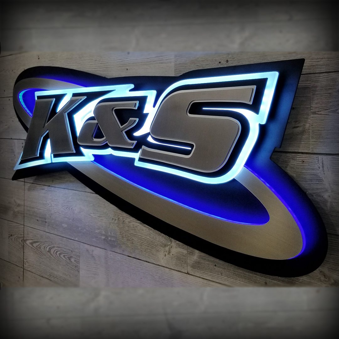 K&S Equipment and Sales Business Sign
